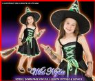 HALLOWEEN COSTUME GIRLS RIBBON WITCH GREEN